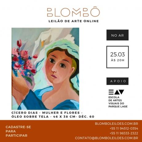 9º leilão da Blombô, em apoio à Escola de Artes Visuais do Parque Lage | 25 de março, segunda-feira, às 20h